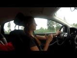 С такой серьёзной рожей я обычно за рулём в дальних поездках :)